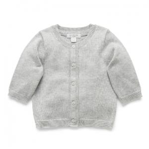 Purebaby 有機棉嬰童針織外套-灰色