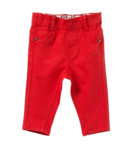 Purebaby  有機棉緊身牛仔褲-純紅色