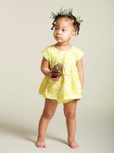 kate quinn短洋裝褲子組-夏日黃花