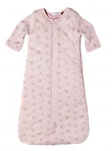 Purebaby 有機棉鋪棉睡袋-粉紅混色
