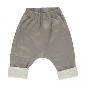 Bebobio 有機棉鋪棉瑜珈褲-淺灰色