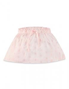 Purebaby 有機棉粉紅純色澎澎裙-粉紅純色